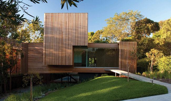 Casa de madera ecológica.